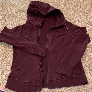 Heather purple lulu workout jacket